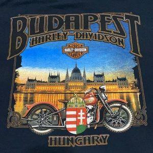 Harley-Davidson motorcycle Budapest Hungary tshirt